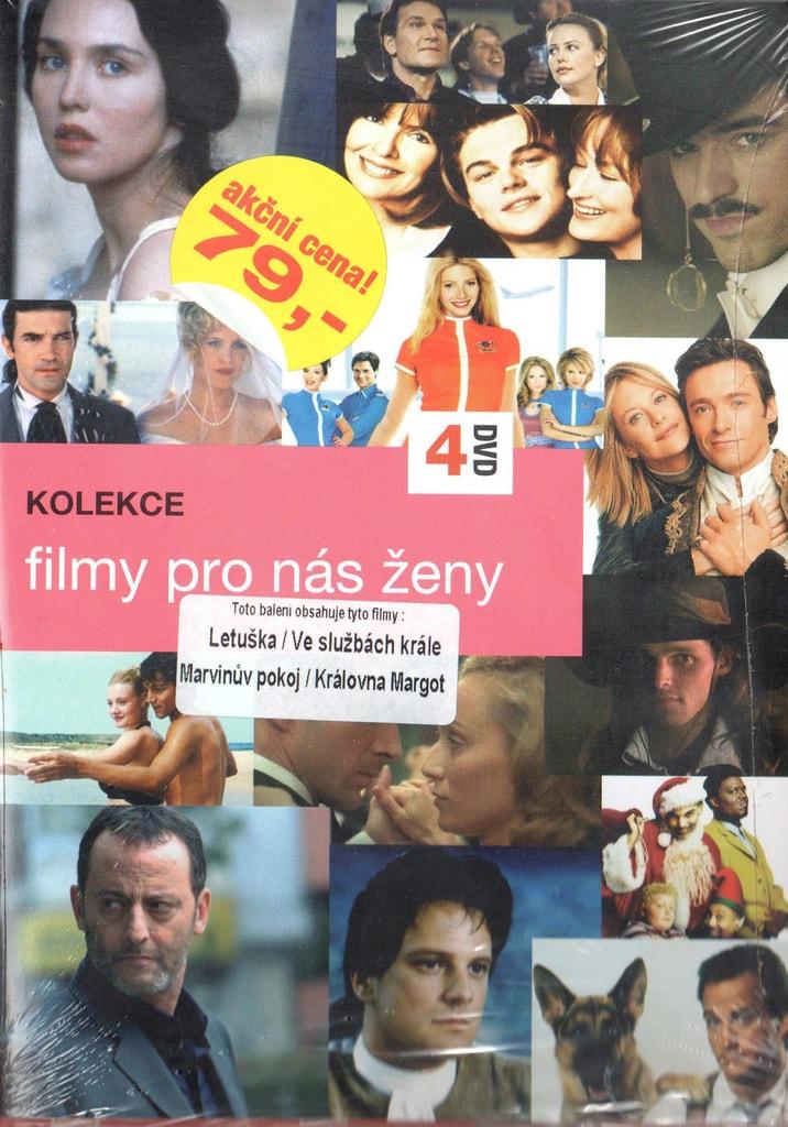 DVD kolekce Filmy pro nás ženy - Letuška / Ve službách krále / Marvinův pokoj / Královna Margot