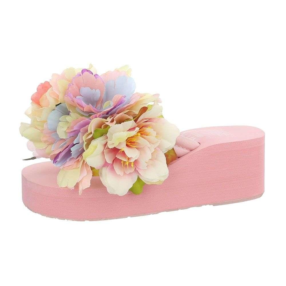 Dámske papuče s kvetinou EU shd-osa1186spi