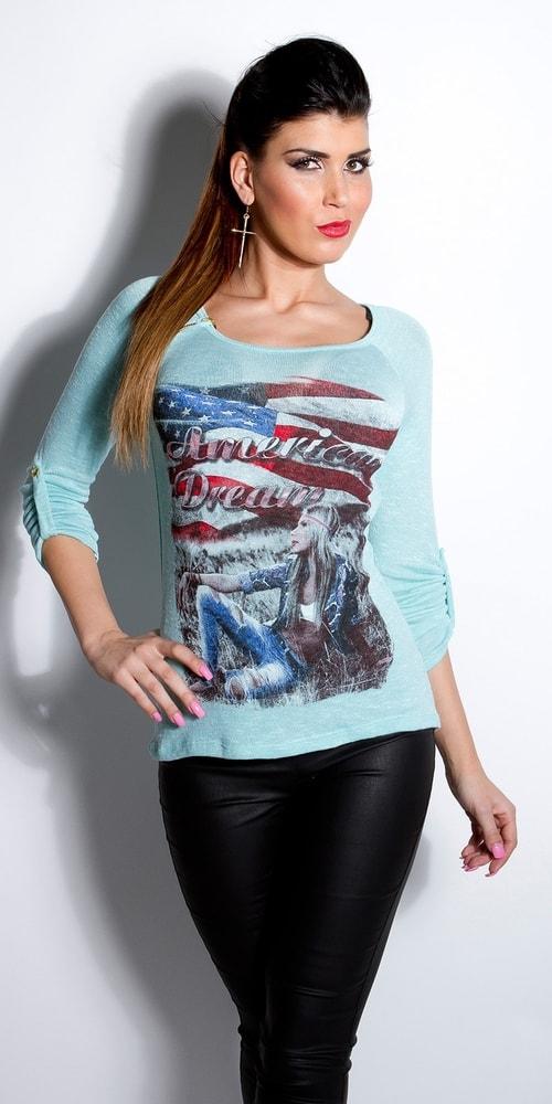 Dámske tričko s dlhými rukávmi Koucla in-tr1005mi