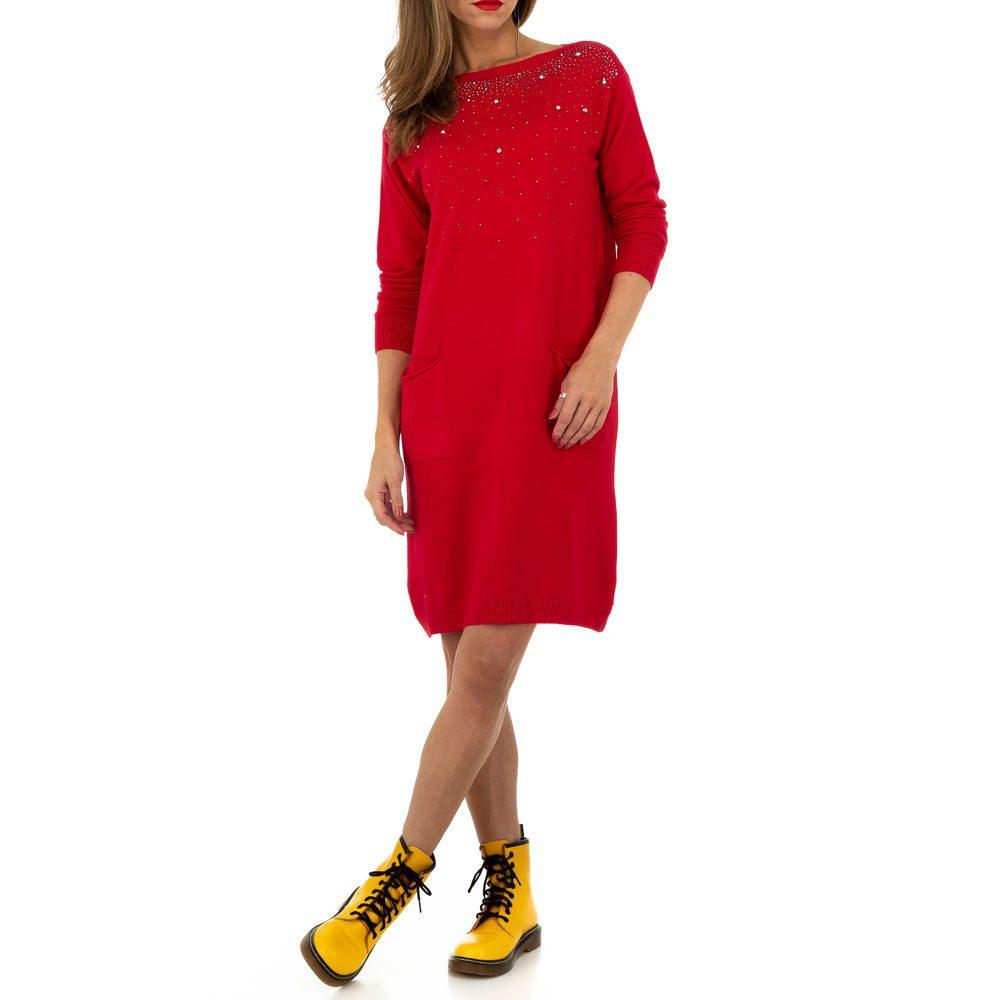 Úpletové šaty s perličkami shd-sat1257re
