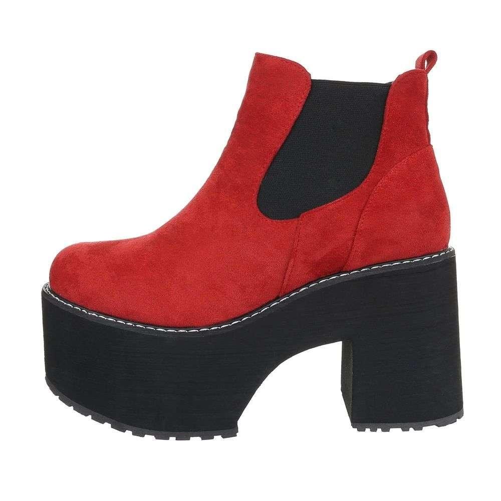 Červené členkové topánky EU shd-okk1165re