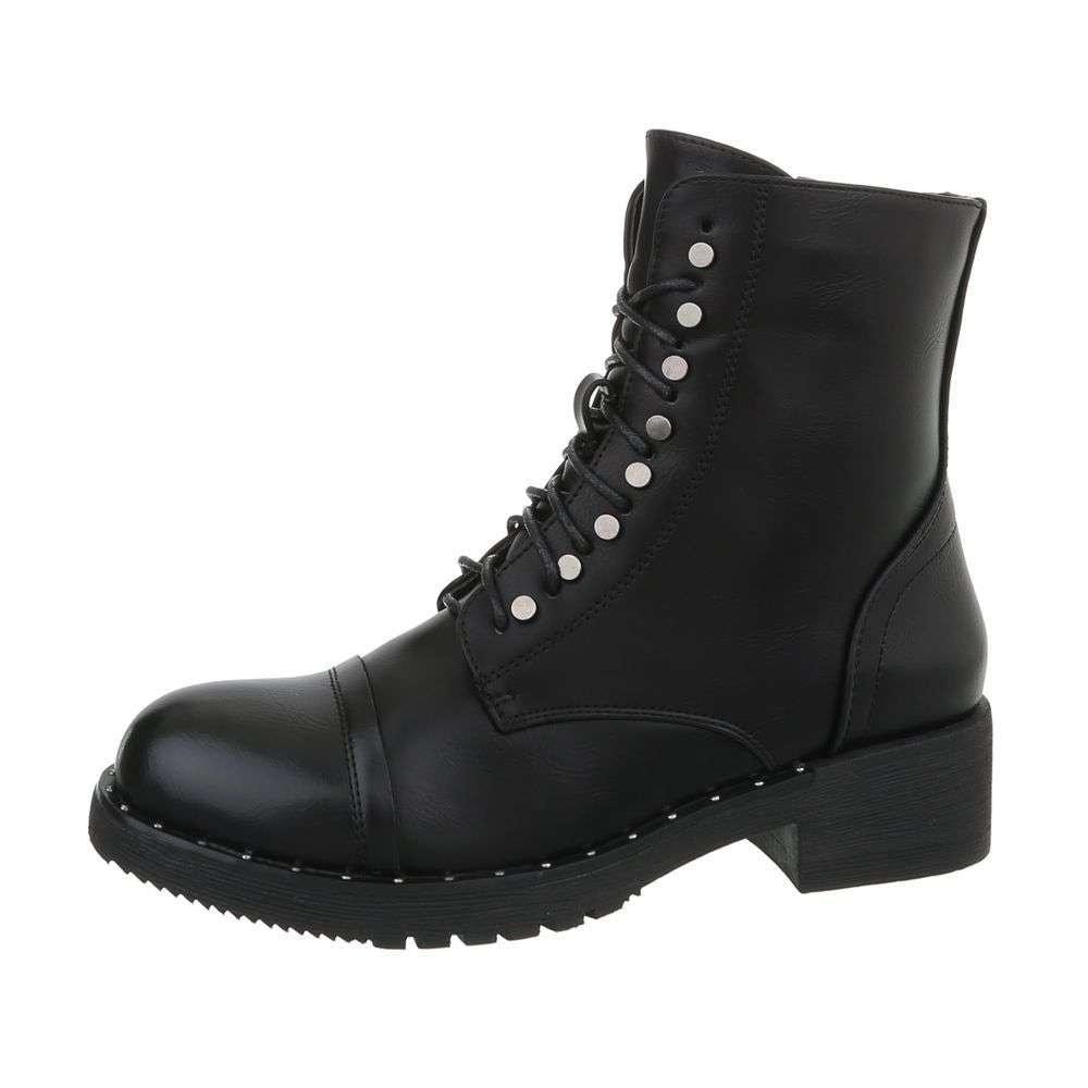 Čierne šnurovacie topánky - 36 EU shd-okk1190bl