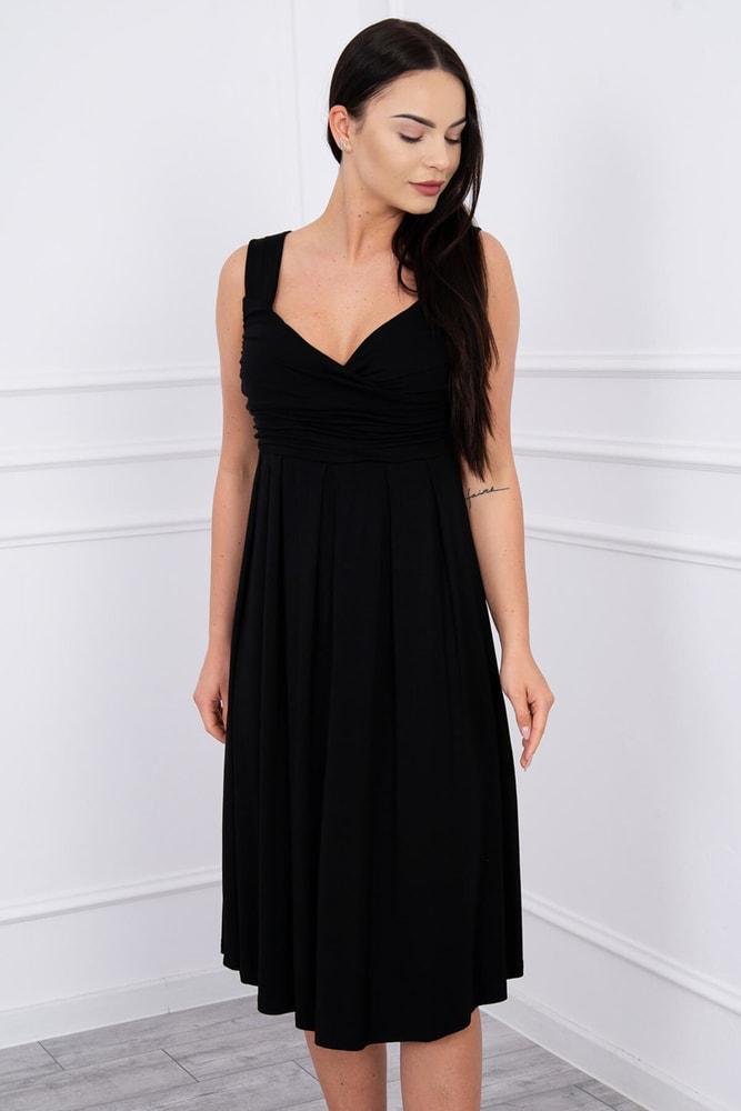 Čierne dámske šaty - XL Kesi ks-sa61063bl