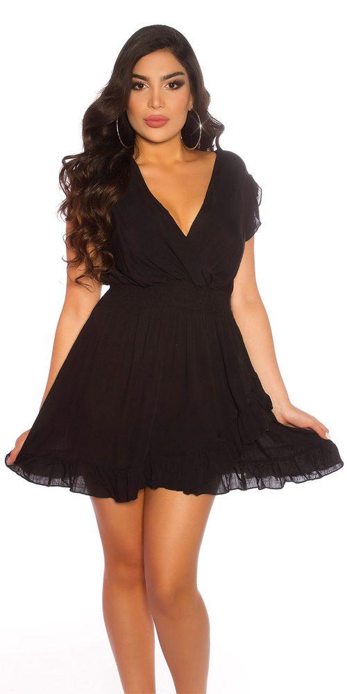 Černé letní šaty - M/L Koucla in-sat2178bl