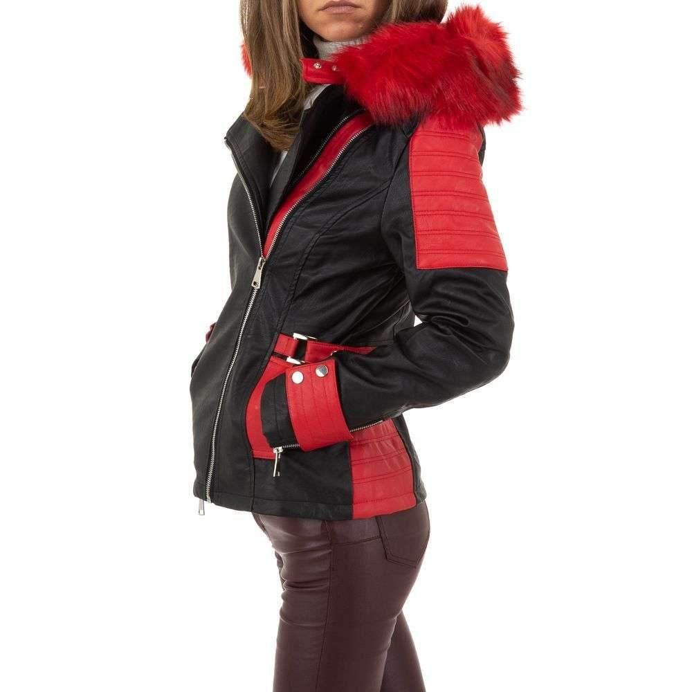 Koženková bunda s kapucňou - XL/42 EU shd-bu1202re