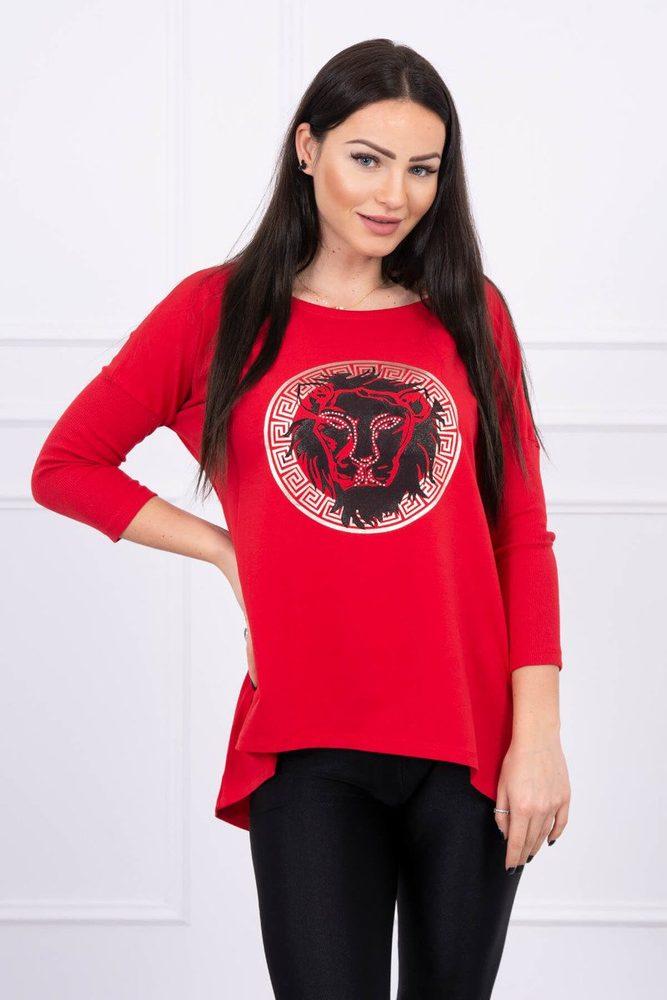 Červená dámská tunika Kesi ks-tu0065re