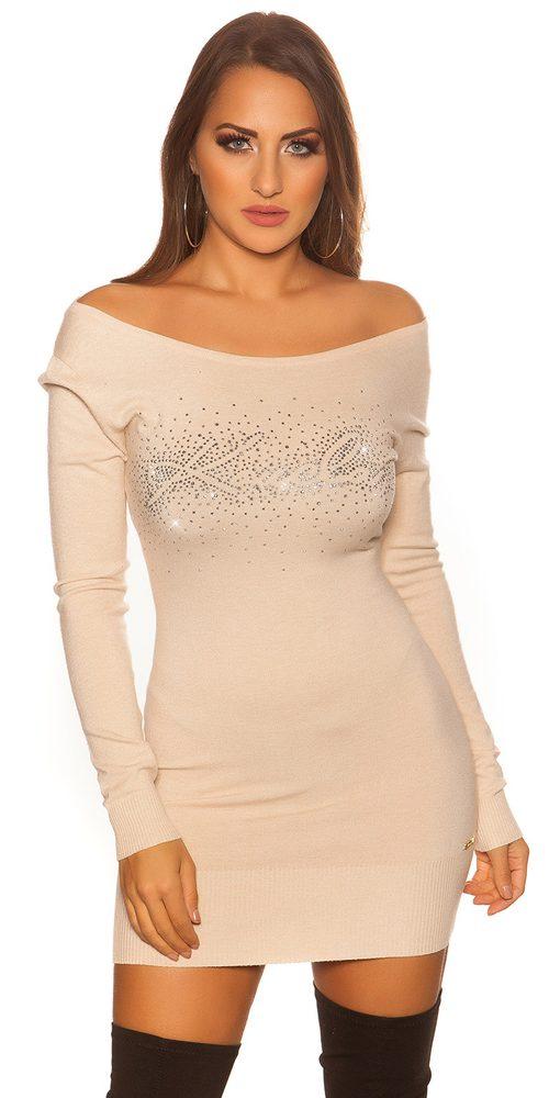 Mini šaty z úpletu Koucla in-sat2128be