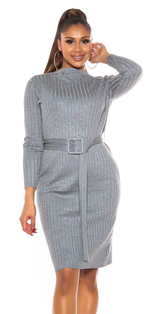 Úpletové dámské šaty Koucla in-sat2264gr