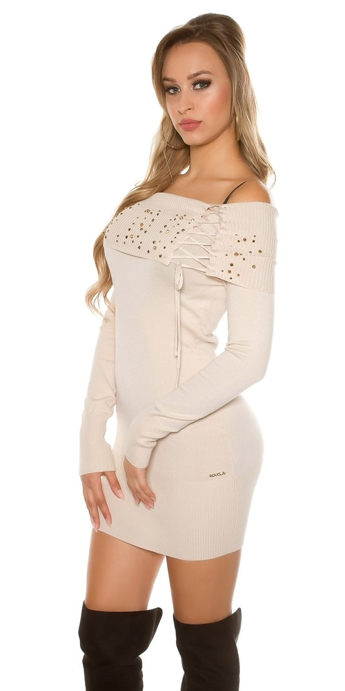 Dámske úpletové mini šaty Koucla in-sat1573be