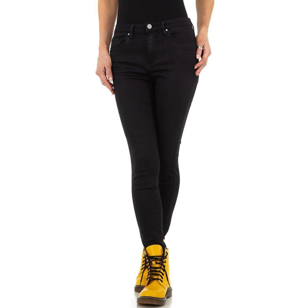 EU Dámské černé džíny