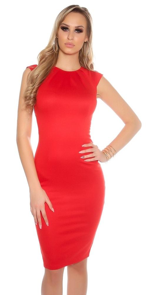 Puzdrové šaty červené Koucla in-sat1231re