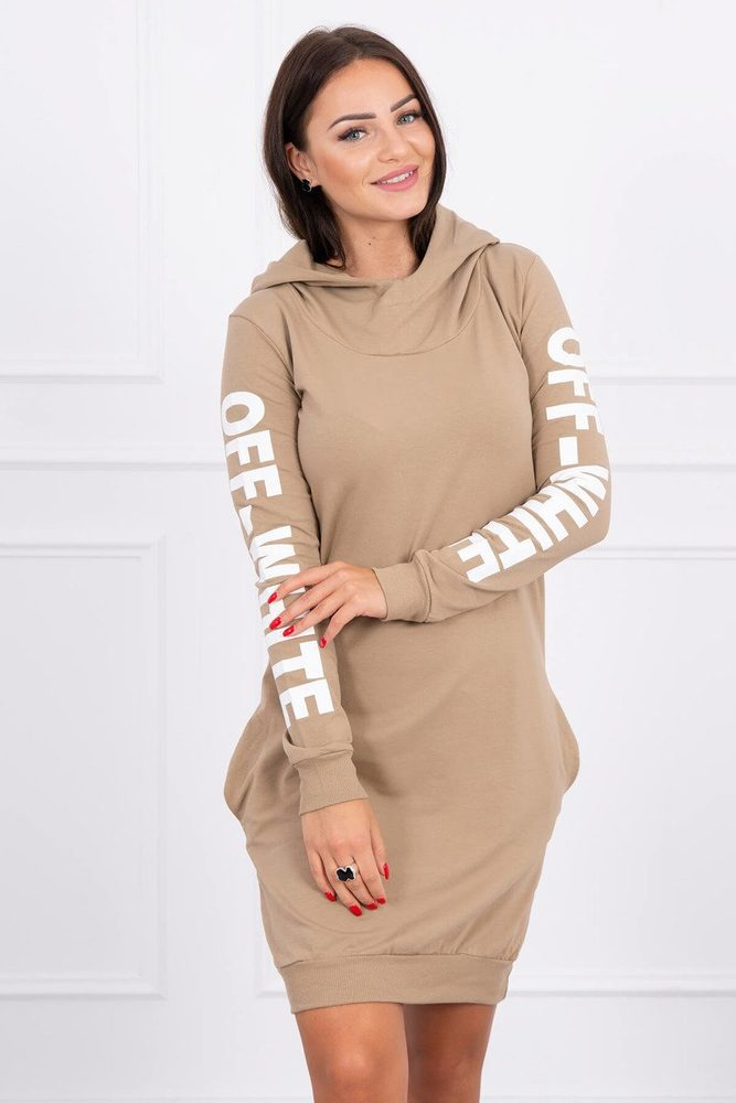 Sportovní šaty dámské s kapucí ks-sa62072ca