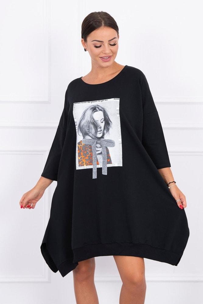 Mikinové šaty Kesi ks-sa9007bl