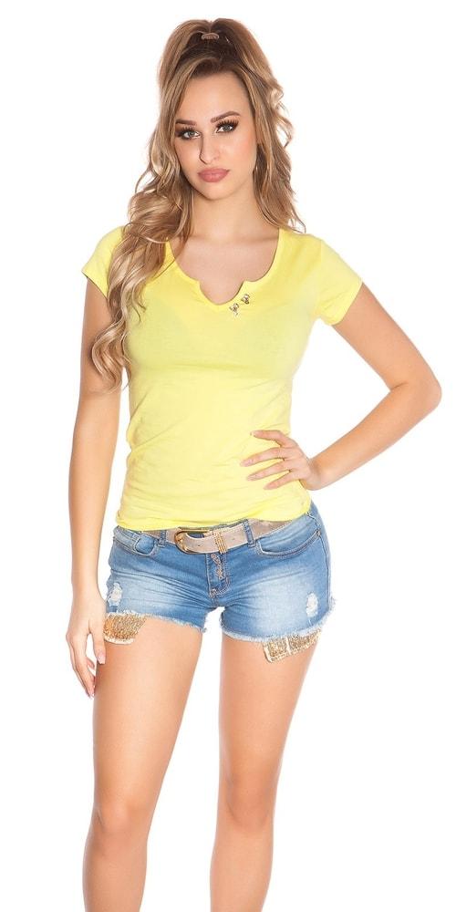 Dámske tričko žlté - S/M Koucla in-tr1145ge