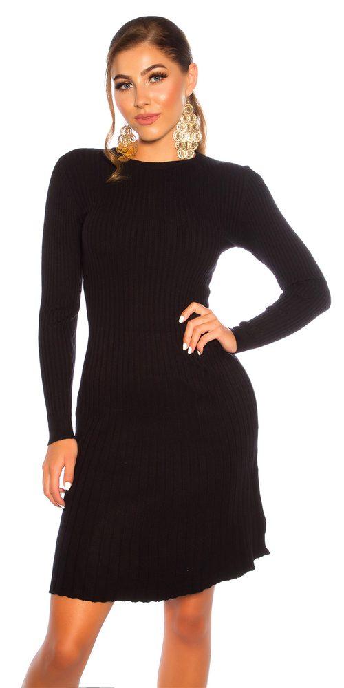 Dámské šaty z úpletu Koucla in-sat2242bl