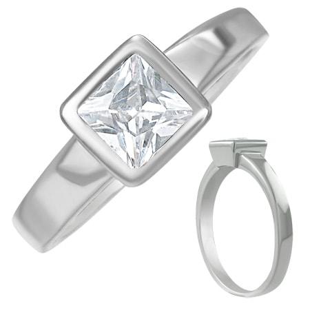 Prsten dámský s krystalem - Vel.6 DAMSON th-rcz025