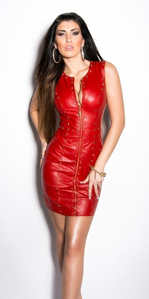 Sexy červené šaty - II. jakost Koucla in-sat1125re-v