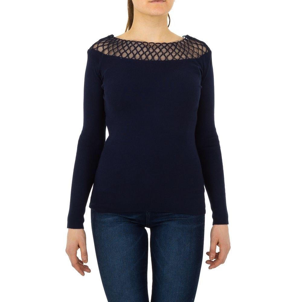 Dámsky sveter modrý EU shd-sv1075mo