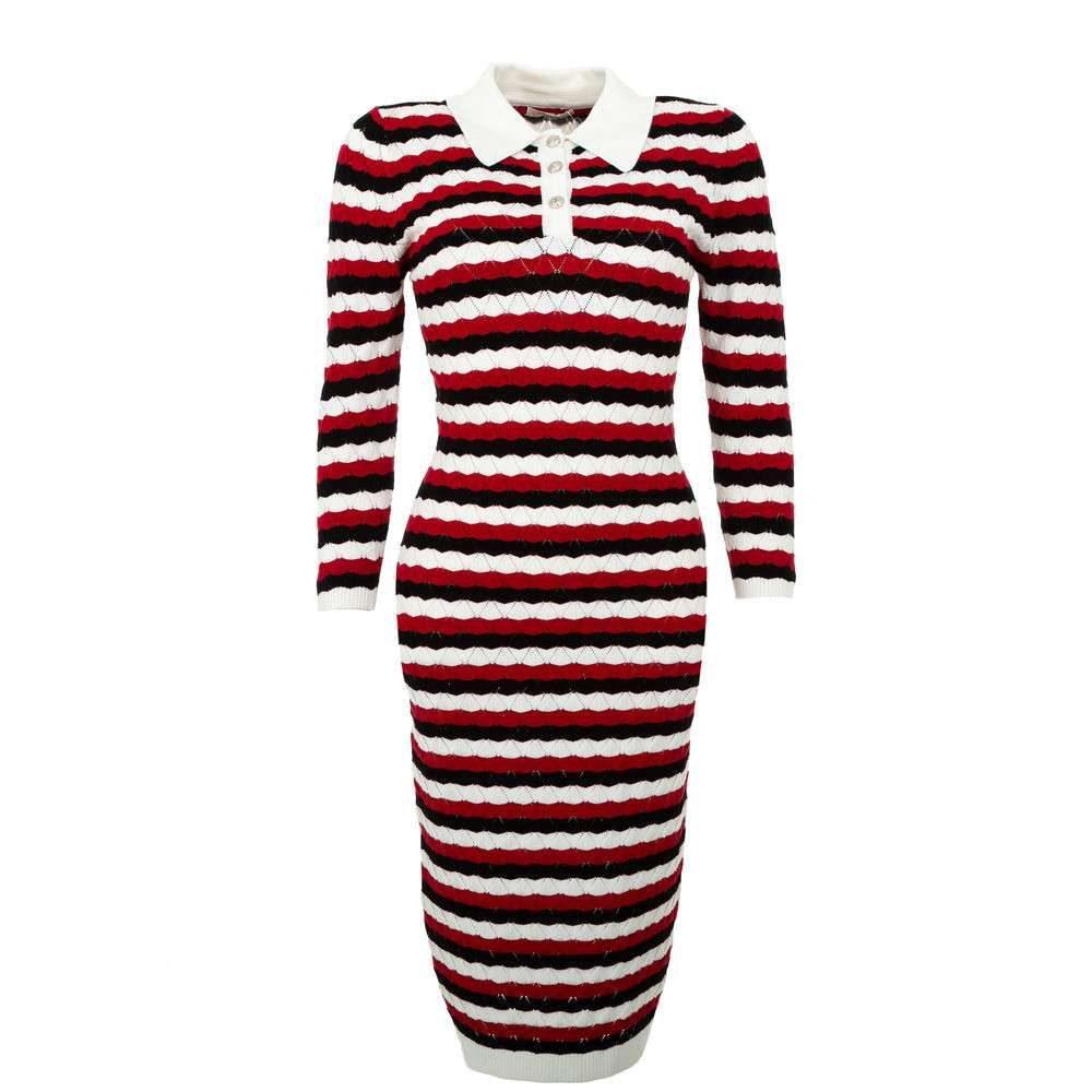 Úpletové dámské šaty - S/M EU shd-sat1252