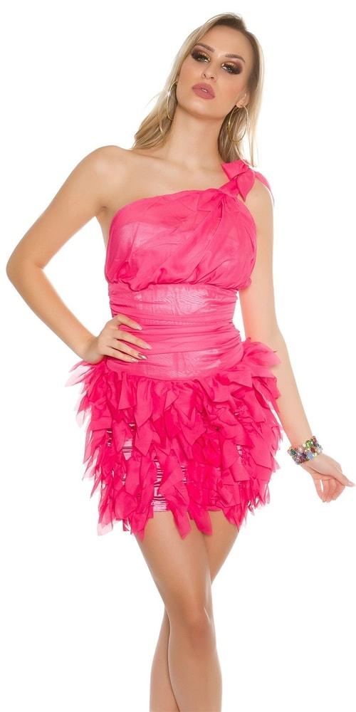 Dámske ružové koktejlové šaty Koucla in-sat1429pi