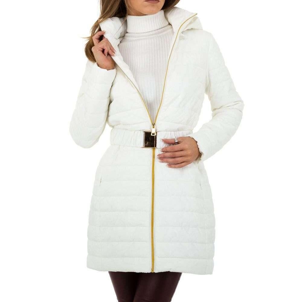 Dámska zimná bunda s opaskom - L/40 EU shd-bu1190wh