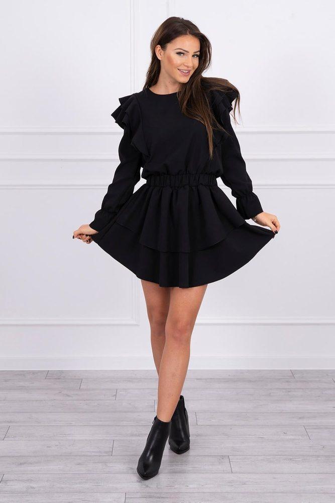 Čierne dámske šaty Kesi ks-sa66047bl