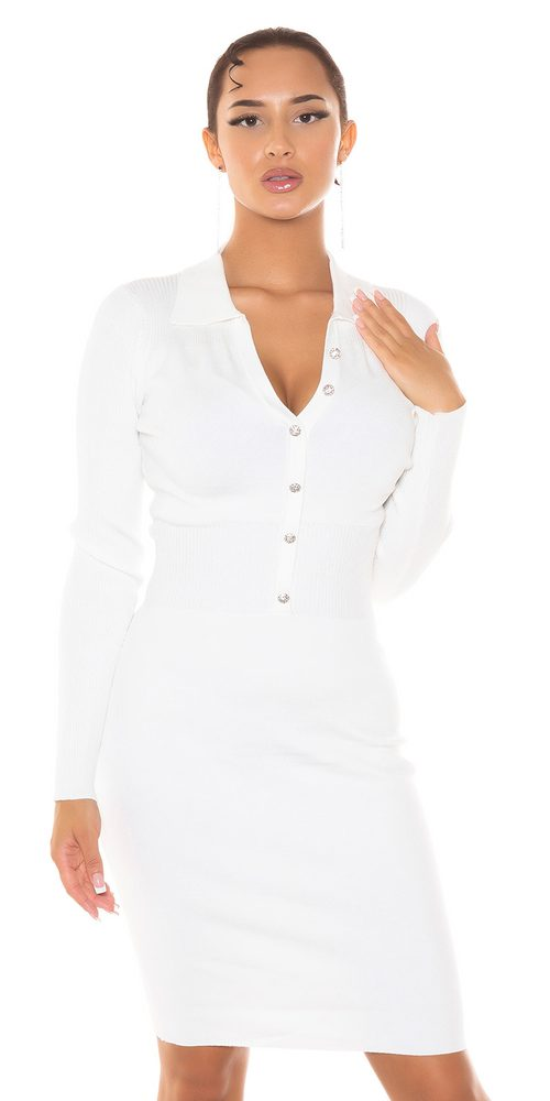 Elegantní šaty z úpletu - S/M Koucla in-sat2304wh