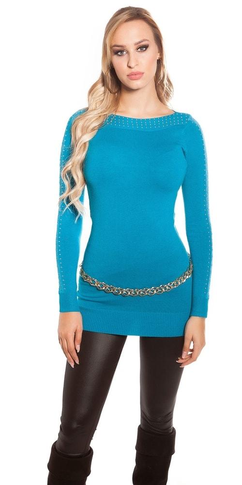 Modrý dámsky sveter Koucla in-sv1361pe
