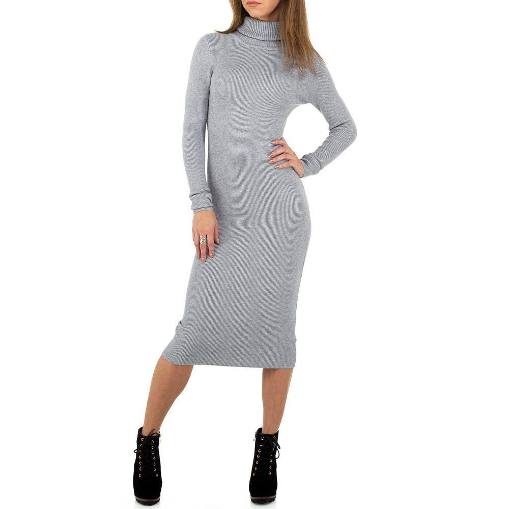 Úpletové šaty s rolákem - S/M EU shd-sat1241gr