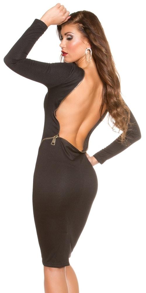 Čierne šaty dámske - S Koucla in-sat1279bl