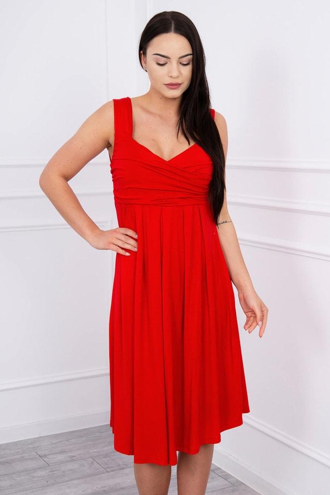 Červené letní šaty - XL Kesi ks-sa61063re