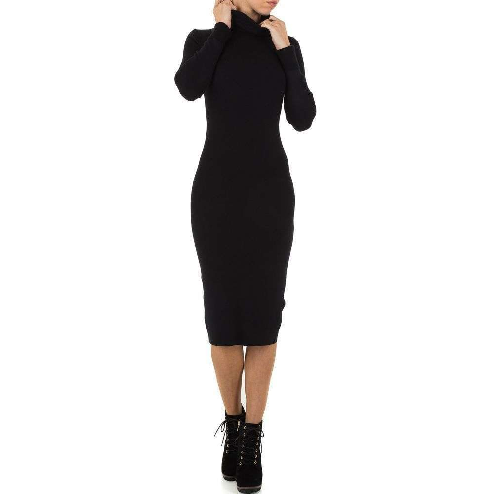 Úpletové šaty s rolákom EU shd-sat1126bl