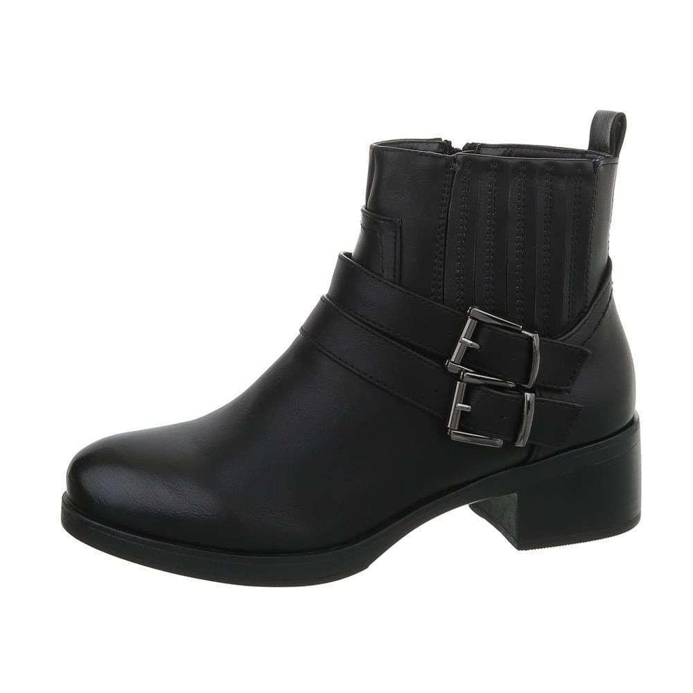 Čierne členkové topánky - 37 EU shd-okk1132bl