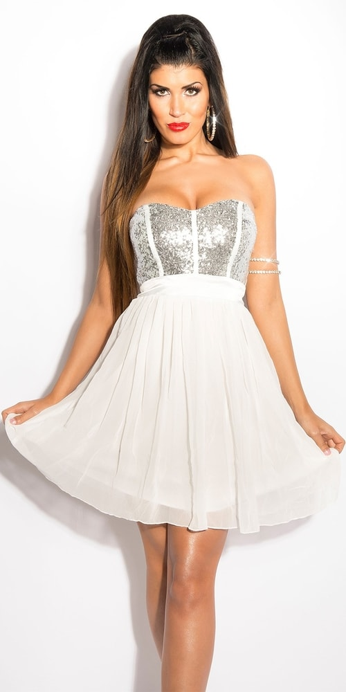 Dámske elegantné šaty - 38 Koucla in-sat1730wh