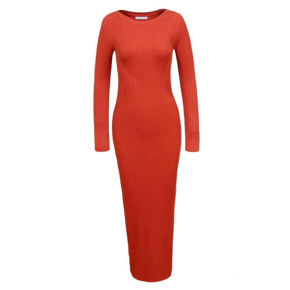 Dlouhé úpletové šaty - L/XL EU shd-sat1254or