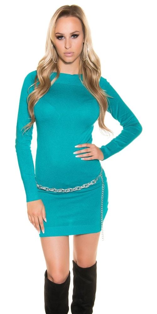 Úpletové dámske mini šaty Koucla in-sv1087sa