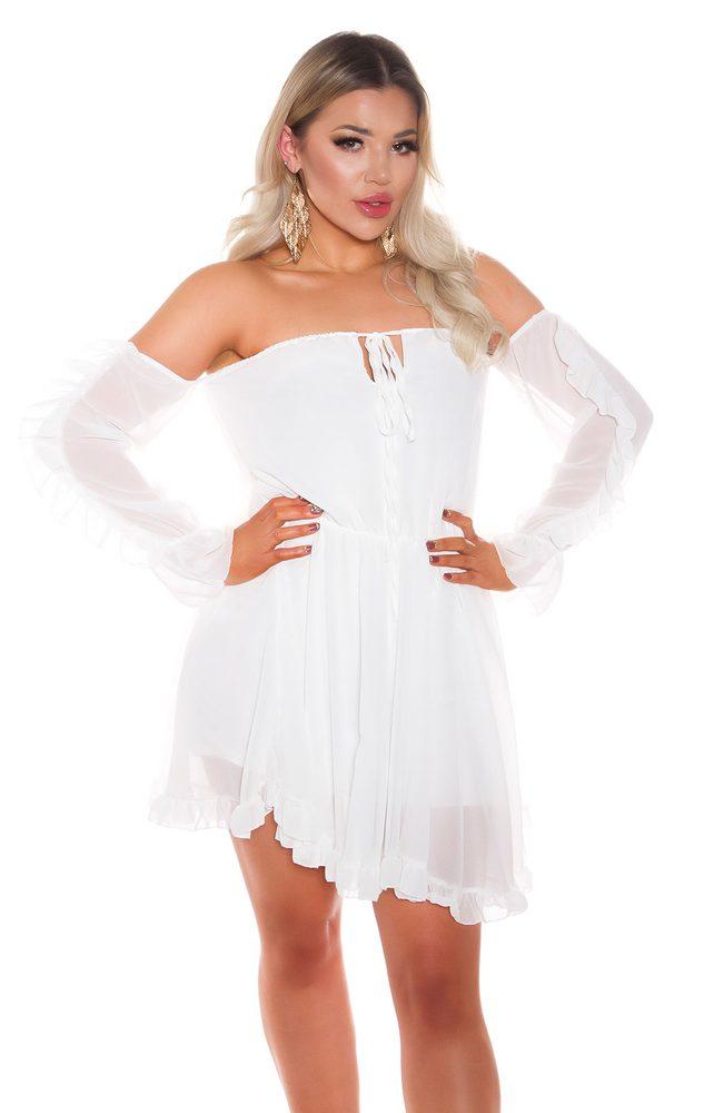 Dámské šaty s volánky Koucla in-sat2268wh