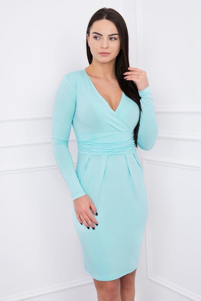 Elegantné šaty s dlhými rukávmi - S Kesi ks-sa8318mi