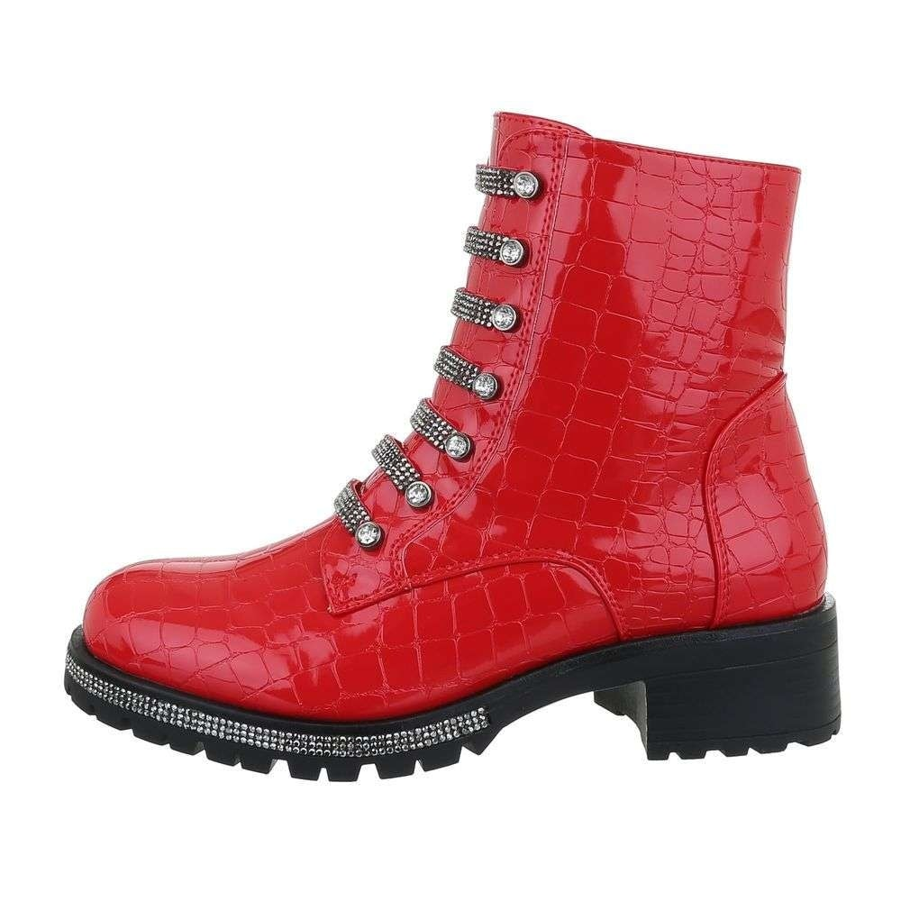 Červené členkové topánky EU shd-okk1163rev