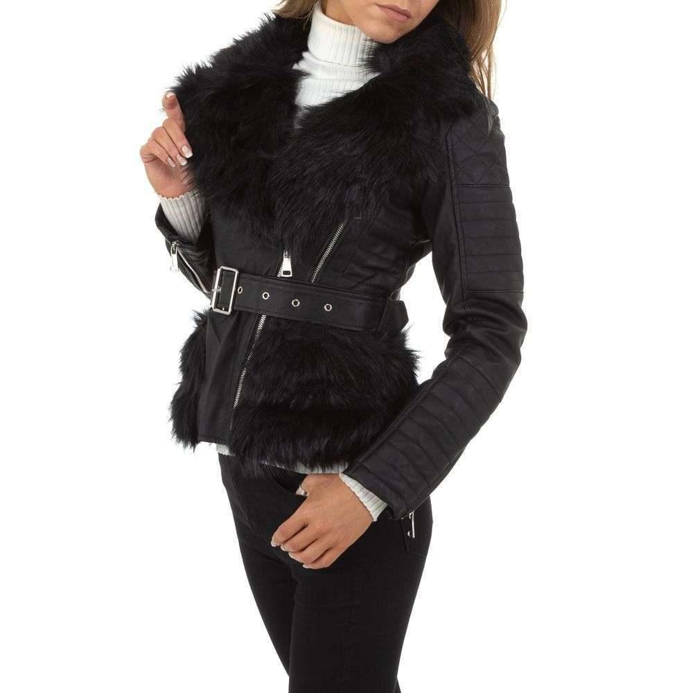 Zimná koženková bunda - XL/42 EU shd-bu1168bl