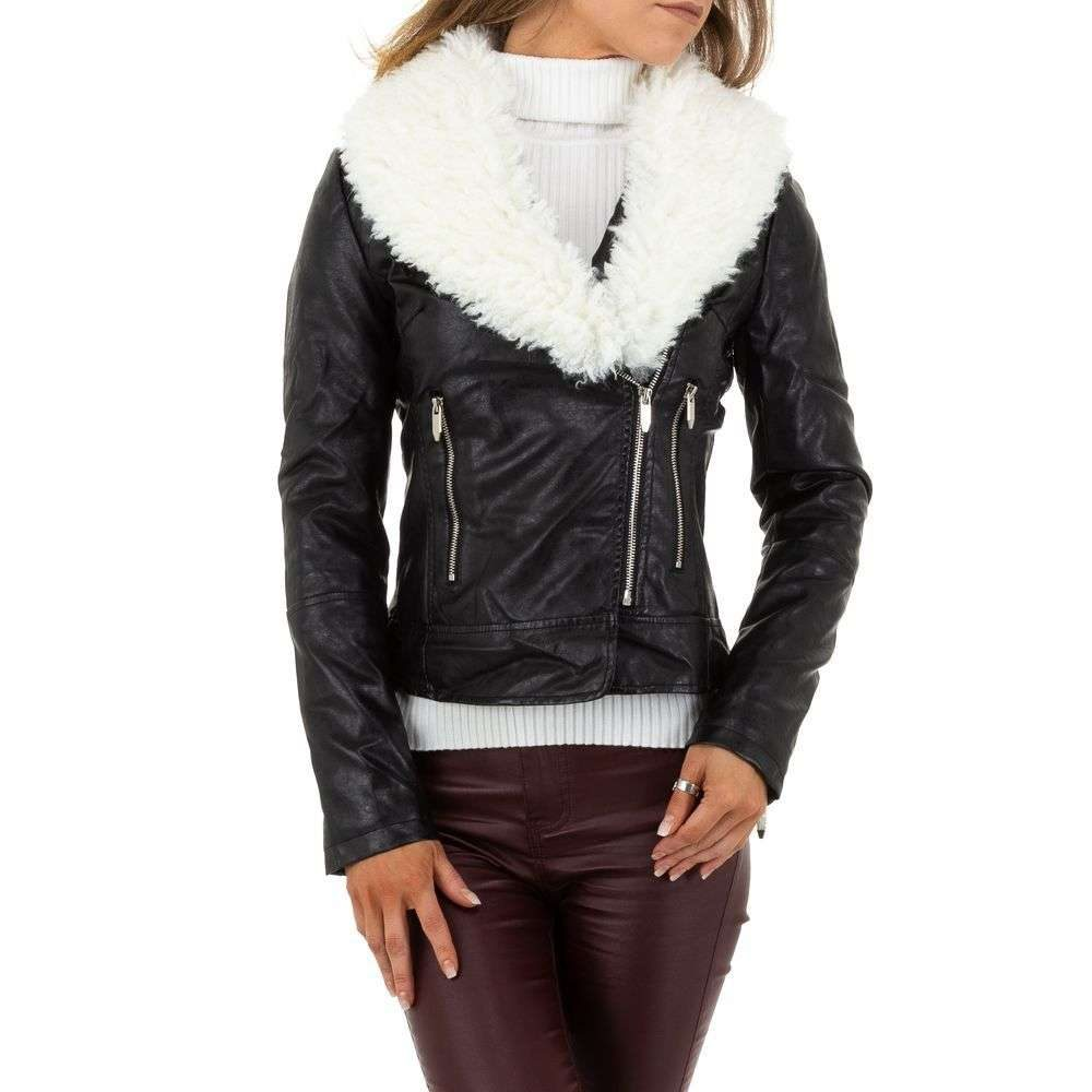 Zimná koženková bunda - XL/42 EU shd-bu1204bl