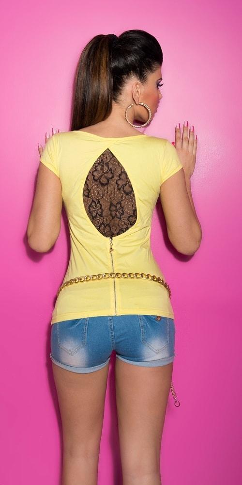 Dámske tričko - žlté Koucla in-tr1190ge