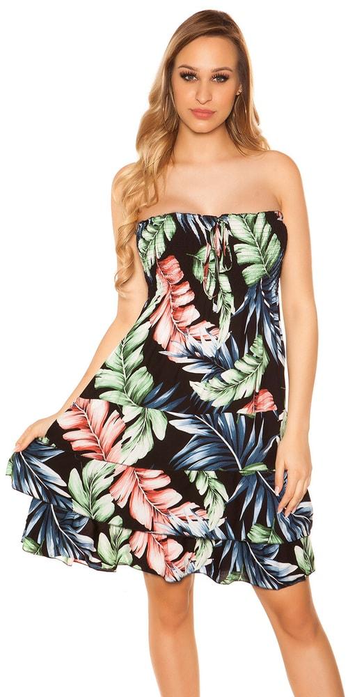 Kvetované dámske šaty - M/L Koucla in-sat2031bl