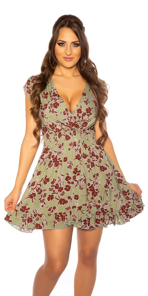 Letní šaty s potiskem Koucla in-sat2177kh