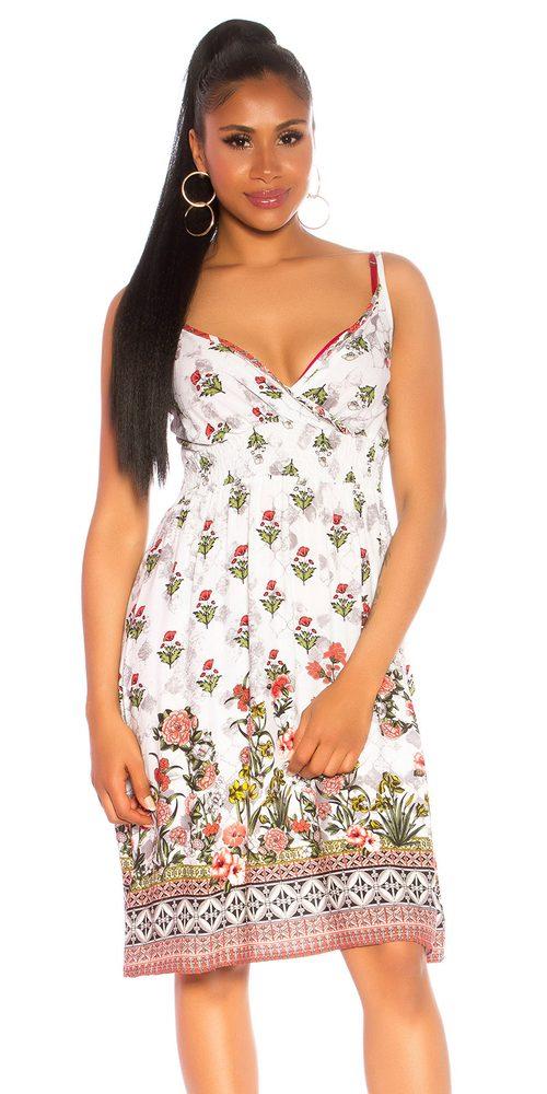 Krátké letní šaty Koucla in-sat2194wh