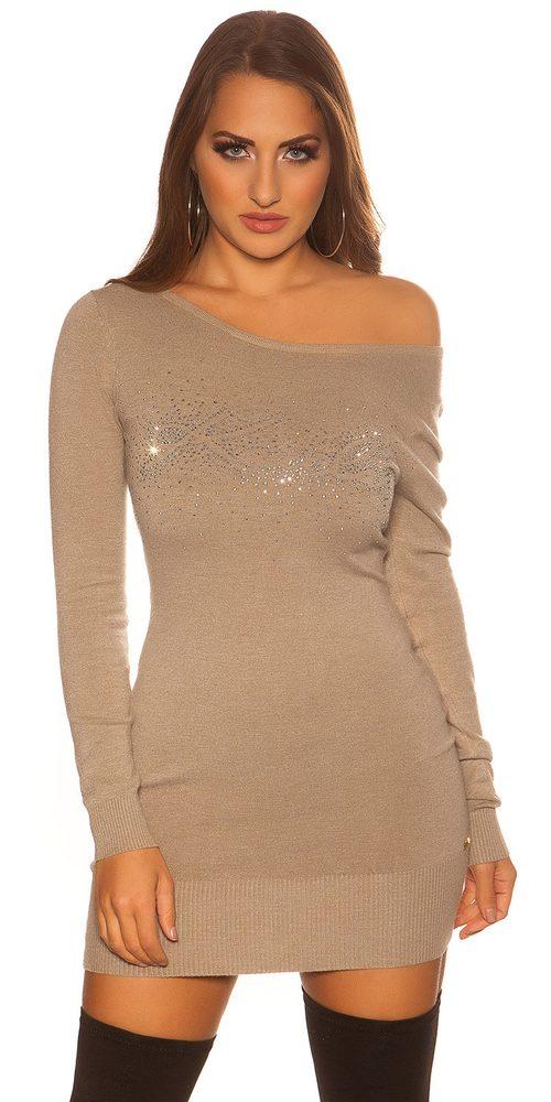 Úpletové dámské mini šaty Koucla in-sat2128ca