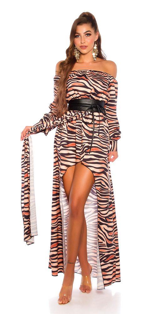 Saténové letní šaty Koucla in-sat2224zeb