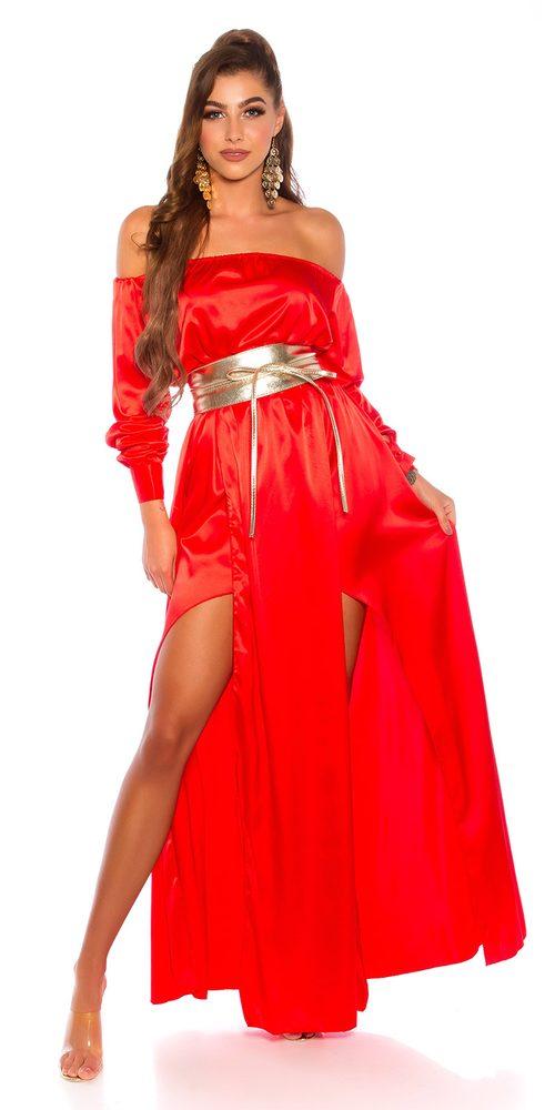 Letní saténové šaty - S Koucla in-sat2224re
