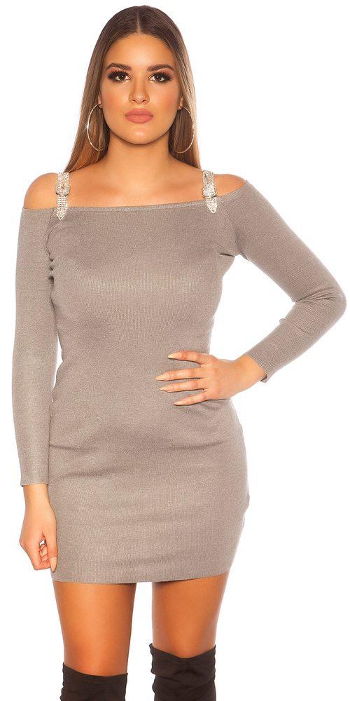 Úpletové dámské mini šaty Koucla in-sat2130gr