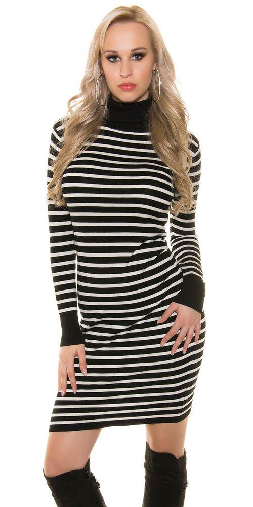 Dlouhé úpletové šaty Koucla in-sat1123bl